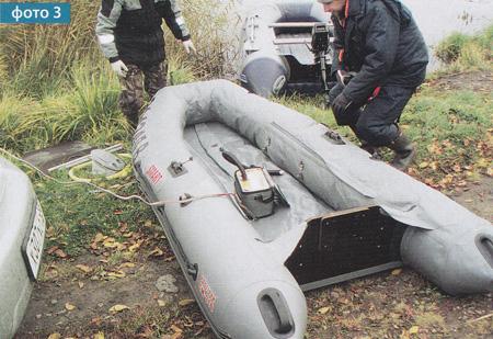 лодка наклоняется